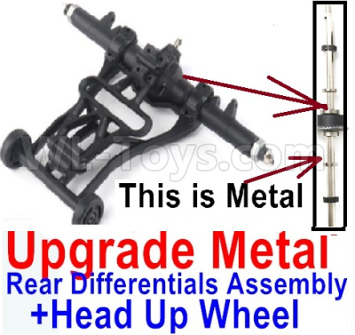 Wltoys 12428-A RC Car Upgrade Head up Wheel and Upgrade Metal Rear Differentials Assembly(Ordinary metal materials)