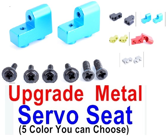 Wltoys 12428-A RC Car Parts-12428A Upgrae Metal Servo Seat Parts,