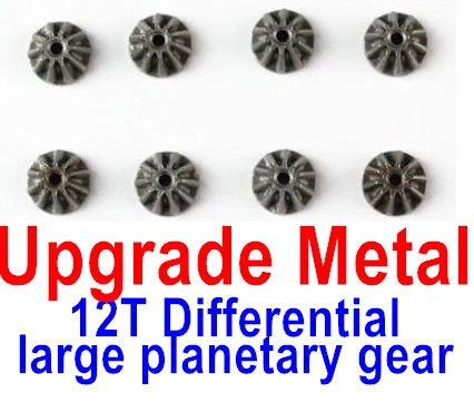 Wltoys 12428-A RC Car Upgrade Metal 12T Differential large planetary gear(8pcs),Wltoys 12428-A Parts