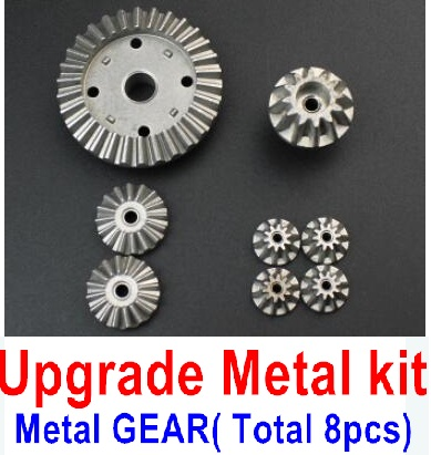Wltoys 12428-A RC Car Upgrade Metal Kit-(Metal gear,total 8pcs),Wltoys 12428-A Parts