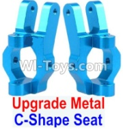 Wltoys 12428-A RC Car Upgrade Metal C-Shape Seat(2pcs)-Blue,Wltoys 12428-A Parts