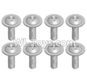 Wltoys 12428-A RC Car Parts-Pan head screws with cross media(8PCS)-M2X8 PMW,Wltoys 12428-A Parts