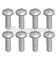 Wltoys 12428-A RC Car Parts-Cross recessed pan head screws(8PCS)-M2.5X8 PM,Wltoys 12428-A Parts