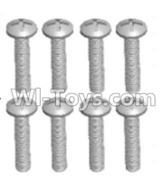 Wltoys 12428-A RC Car Parts-Cross recessed pan head screws(8PCS)-M2.5X12 PM,Wltoys 12428-A Parts