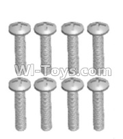 Wltoys 12428-A RC Car Parts-Cross recessed pan head screws(8PCS)-M2.5X14 PM,Wltoys 12428-A Parts