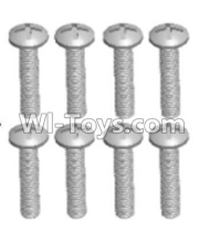 Wltoys 12428-A RC Car Parts-Cross recessed pan head screws(8PCS)-M2.5X16 PM,Wltoys 12428-A Parts