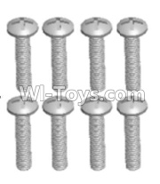 Wltoys 12428-A RC Car Parts-Cross recessed pan head screws(8PCS)-M2.5X20 PM,Wltoys 12428-A Parts