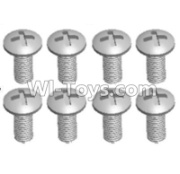 Wltoys 12428-A RC Car Parts-Cross recessed pan head screws(8PCS)-M4X12 PM,Wltoys 12428-A Parts
