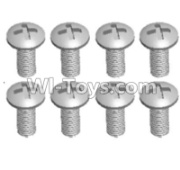 Wltoys 12428-A RC Car Parts-Cross recessed pan head screws(8PCS)-M3X7 PM,Wltoys 12428-A Parts