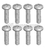 Wltoys 12428-A RC Car Parts-Cross recessed pan head screws(8PCS)-M2X12 PM,Wltoys 12428-A Parts