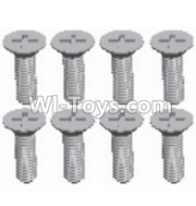 Wltoys 12428-A RC Car Parts-Cross recessed Flat head screws(8PCS)-M2.5X6 KM,Wltoys 12428-A Parts