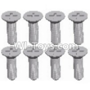 Wltoys 12428-A RC Car Parts-Cross recessed Flat head screws(8PCS)-M2.5X8 KM,Wltoys 12428-A Parts