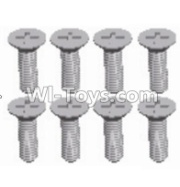 Wltoys 12428-A RC Car Parts-Cross recessed Flat head screws(8PCS)-M2.5X10 KM,Wltoys 12428-A Parts