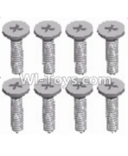 Wltoys 12428-A RC Car Parts-Cross recessed Flat head screws(8PCS)-M2X8 KM,Wltoys 12428-A Parts