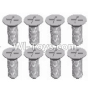 Wltoys 12428-A RC Car Parts-Cross recessed Flat head screws(8PCS)-M3X8 KM,Wltoys 12428-A Parts