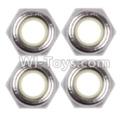 Wltoys 12428-A RC Car Parts-M2.5 Anti loose nut(4PCS),Wltoys 12428-A Parts