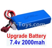 Wltoys 12428-A RC Car Upgrade Battery Parts-7.4V 2000mah 25C Battery(1pcs)-Size-80X35X19MM,Wltoys 12428-A Parts
