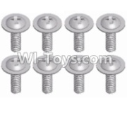 Wltoys 12428-A RC Car Parts-Pan head screws with cross media(8pcs)-M2.5X8 PWM,Wltoys 12428-A Parts