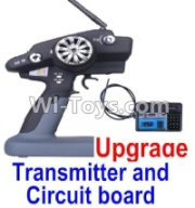 Wltoys 12428-A RC Car Upgrade P33 Transmitter and Circuit board,Wltoys 12428-A Parts