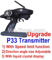 Wltoys 12428-A RC Car Parts-pgrade P33 Transmitter(With Speed Limit function,Direction angle size Adjustable,With liquid crystal display),Wltoys 12428-A Parts,1:12 Scale 4wd,2.4G 12428 rc racing car Parts,On Ro