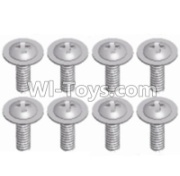 Wltoys 12428-A RC Car Parts-Pan head screws with cross media(8PCS)-M2.3X8,Wltoys 12428-A Parts