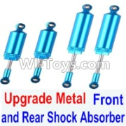 Wltoys 12428-A RC Car Upgrade Metal Front and Rear Shock Absorber(Total 4pcs),Wltoys 12428-A Parts