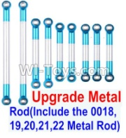 Wltoys 12428-A RC Car Upgrade Metal Rod(Include the 0018,19,20,21,22 Metal Rod)-9pcs,Wltoys 12428-A Parts