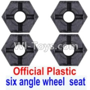 Wltoys 12428-A RC Car Parts-Plastic Combination device, six angle wheel seat(4pcs),Wltoys 12428-A Parts