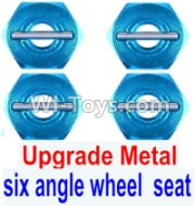 Wltoys 12428-A RC Car Upgrade Metal Combination device, six angle wheel seat(4pcs),Wltoys 12428-A Parts