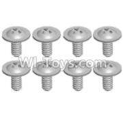 Wltoys 12428-A RC Car Parts-Pan head screws with cross media(M2.0x4 PMW)-8pcs,Wltoys 12428-A Parts