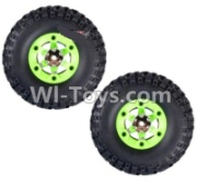 Wltoys 12428-A RC Car Parts-Whole Left Wheel unit(Include the Wheel,Trie leather,upper and bottom wheel cover)-2pcs,Wltoys 12428-A Parts