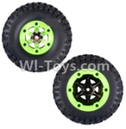 Wltoys 12428-A RC Car Parts-Whole Right Wheel unit(Include the Wheel,Trie leather,upper and bottom wheel cover)-2pcs,Wltoys 12428-A Parts