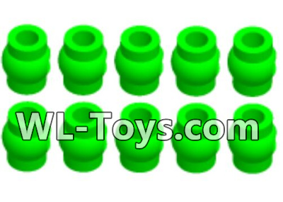 Wltoys 18428 RC Car Parts-Green Ball-head unit Parts(10pcs)-0710,Wltoys 18428 Parts