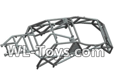 Wltoys 18428 RC Car Parts-Car skeleton components,Car frame unit-Black-0401,Wltoys 18428 Parts