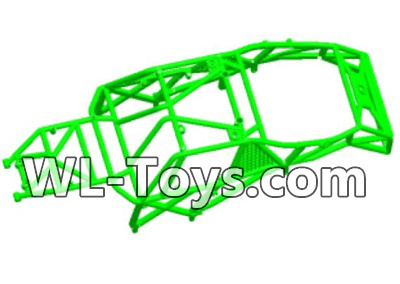 Wltoys 18428 RC Car Parts-0463 Car skeleton components,Car frame unit-Green,Wltoys 18428 Parts