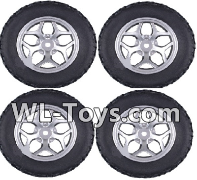 Wltoys 18428 RC Car Parts-Whole wheel unit(4 set)-Black-0409,Wltoys 18428 Parts