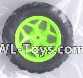Wltoys 18428 RC Car Parts-Whole wheel unit(1 set)-Green-0464,Wltoys 18428 Parts