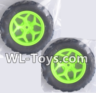 Wltoys 18428 RC Car Parts-Whole wheel unit(2 set)-Green-0464,Wltoys 18428 Parts