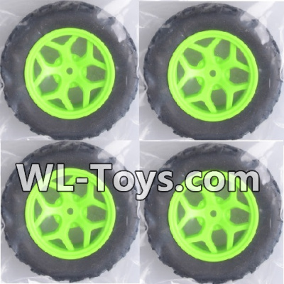 Wltoys 18428 RC Car Parts-Whole wheel unit(4 set)-Green-0464,Wltoys 18428 Parts