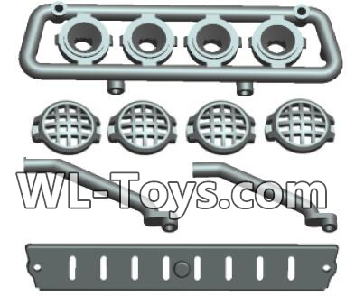 Wltoys 18428 RC Car Parts-Car Top light components-0412,Wltoys 18428 Parts