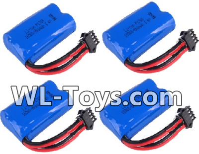 Wltoys 18428 RC Car Parts-Battery-6.4v 700mah Battery Parts(4pcs)-0449,Wltoys 18428 Parts