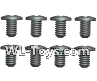 Wltoys 18428 RC Car Parts-Phillips pan head screws Parts-ST1.7X4PB(8pcs)-0416,Wltoys 18428 Parts