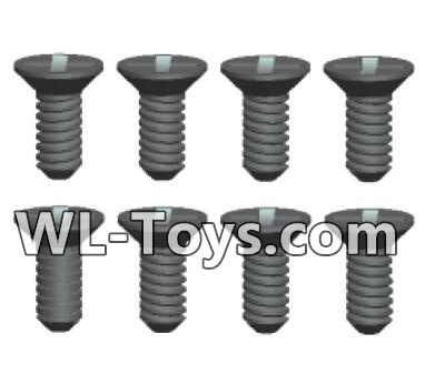 Wltoys 18428 RC Car Parts-Phillips Countersunk head screws Parts-ST2X5kB(8pcs)-0417,Wltoys 18428 Parts