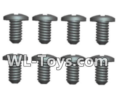 Wltoys 18428 RC Car Parts-Phillips Round head screws Parts-ST2X5PB(8pcs)-0419,Wltoys 18428 Parts