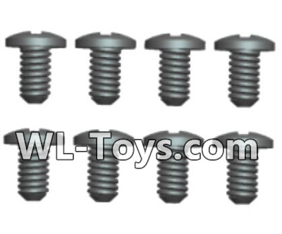 Wltoys 18428 RC Car Parts-Phillips Round head Machine screws Parts-2.5X4PB(8pcs)-0420,Wltoys 18428 Parts