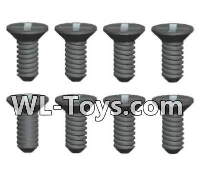Wltoys 18428 RC Car Parts-Phillips Countersunk head Self-tapping screws Parts-ST2X6kB(8pcs)-0421,Wltoys 18428 Parts