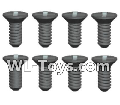Wltoys 18428 RC Car Parts-Phillips Countersunk head Machine screws Parts-2X6kB(8pcs)-0422,Wltoys 18428 Parts