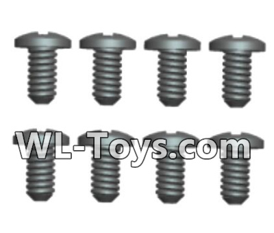 Wltoys 18428 RC Car Parts-Phillips pan head screws Parts-ST2X6PB(8pcs)-0423,Wltoys 18428 Parts