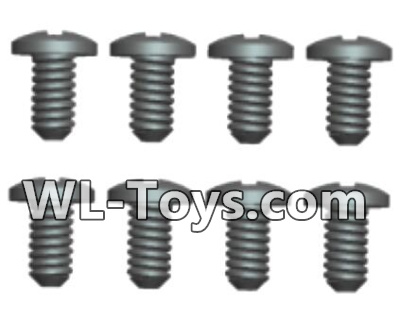 Wltoys 18428 RC Car Parts-0424 Phillips Round head Self-tapping screws Parts-ST2X8PB(8pcs),Wltoys 18428 Parts