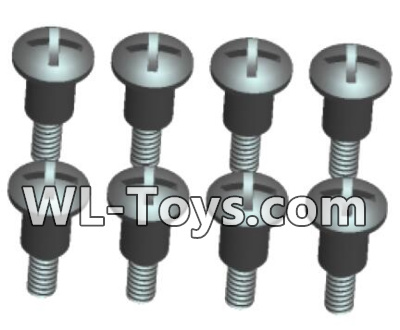 Wltoys 18428 RC Car Parts-0425 Phillips Round head Self-tapping Step half tooth screws Parts-ST2X8PB(8pcs),Wltoys 18428 Parts